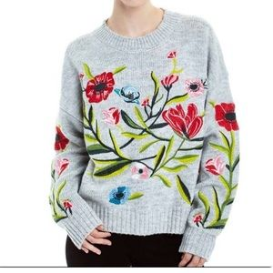 Romeo Juliette couture floral embroidered sweater